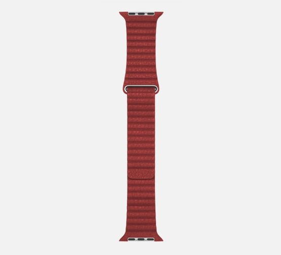 WsC Leather Loop Strap Red Long