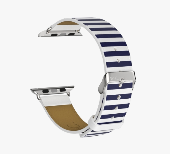 WsC Navy Stripes Stainless Steel Back