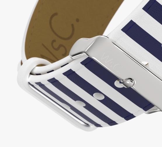 WsC Navy Stripes Stainless Steel Buckle