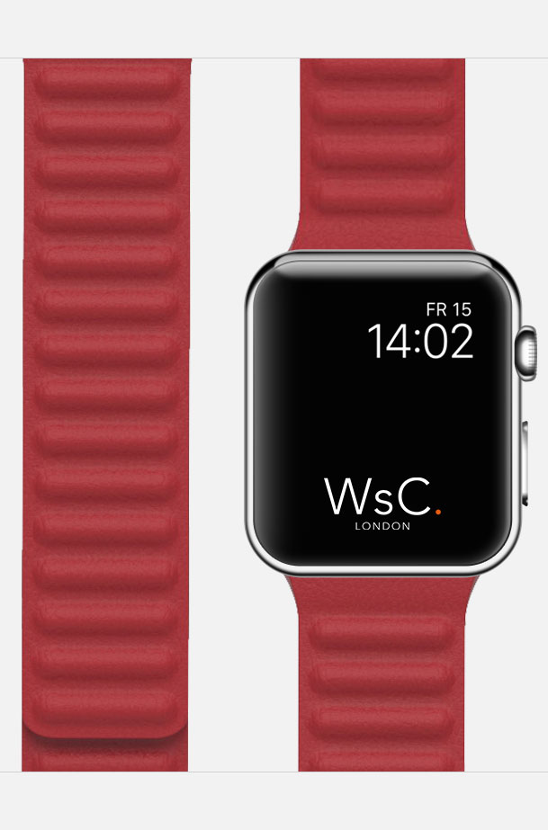 apple watch strap leather link